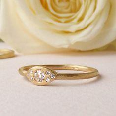 mia recycled 18ct gold diamond engagement ring by shakti ellenwood | notonthehighstreet.com