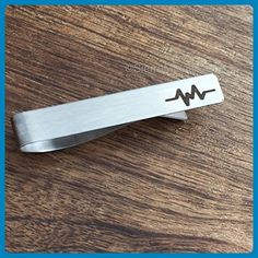 Doctor Gift Doctor Tie Clip Doctor Tie Clip Heart Beat Tie Bar Mens Gift For Doctor Tie Clip For Him For Nurse Heart Beat Medical Gift - Groom cufflinks and tie clips (*Amazon Partner-Link)