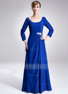 Mother of the Bride Dresses - $148.99 - A-Line/Princess Scoop Neck Floor-Length Chiffon Mother of the Bride Dress With Ruffle Beading (008005702) http://jjshouse.com/A-Line-Princess-Scoop-Neck-Floor-Length-Chiffon-Mother-Of-The-Bride-Dress-With-Ruffle-Beading-008005702-g5702