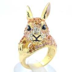 I found 'Lovely Bunny Rabbit Ring Cocktail W/ Yellow Swarovski Crystal for Easter' on Wish, check it out!