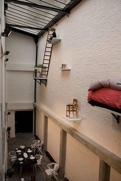 Wall Art at Merci - Concept store in Paris. Merci Paris, Paris Cafe, Merci Boutique, Paris Arrondissement, Retail Architecture, White Brick Walls, Shop Fittings, Shop Fronts, Retail Space