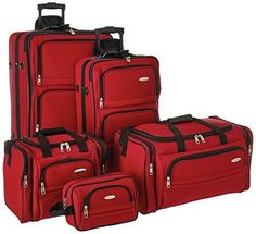 da31b5626069 Samsonite Outpost 5 Piece Nested Luggage Set (Red)