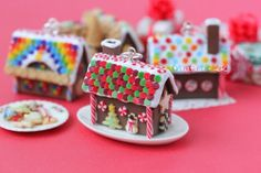 polymer clay Gingerbread House