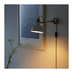 RANARP Wall/clamp spotlight IKEA The lamp can be mounted in two ways: as a clamp spotlight or as a wall lamp.