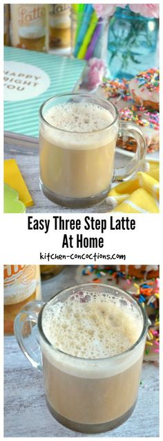 Easy Three Step Latte At Home - No need to head to your local coffee shop to get your favorite coffee drinks! Learn how to make an easy three step latte in the comfort of your own home with this simple tutorial! #ad #LatteMadeEasy #CollectiveBias @walmart