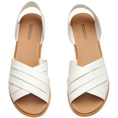 Sandals $14.99 ($15) ❤ liked on Polyvore featuring shoes, sandals, vegan footwear, vegan shoes, vegan leather shoes, rubber sole shoes and faux leather sandals