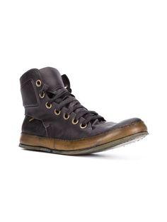 A Diciannoveventitre distressed hi-top sneakers