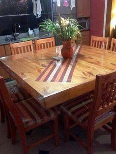 mandar a hacer una mesa con la banquita | deco | Pinterest | Mesas ...