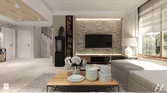 Dom pod Kołobrzegiem w zacisznym miejscu. - Salon, styl rustykalny - zdjęcie od Agata Hann Architektura Wnętrz