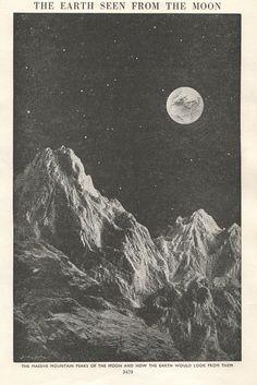 Retro moon Illustration   Like this item?