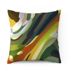 Garden 2 by Parris Wakefield Additions  100% cotton satin cushion  with a natural feather pad  size 60 x 60cm    Designed and Made in Britain