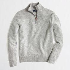 Factory lambswool half-zip sweater