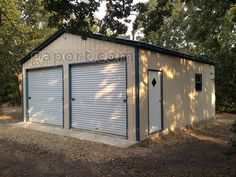 Metal - Steel Building Kits DIY Sample For the DIY handyman, steel building kits are available with the same options as an installed unit Cabana, Steel Garage Kits, Metal Building Kits, Wall Storage Systems, Double Storey House, Garage Door Makeover, Metal Garages, Louvre, Bungalow Renovation