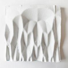 Sculptural Wall Art - faceted 3d geometry