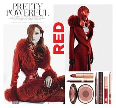 """""""Like Jessica R."""" by vanya-rosario-guidi ❤ liked on Polyvore featuring Charlotte Tilbury and redhair"""