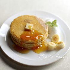 パンケーキ&ハチミツパンケーキバナナ添え