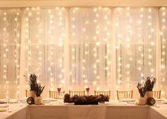 varal de luzes para wedding