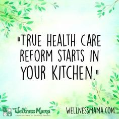 True health care reform starts in the kitchen. #weightlossrecipes