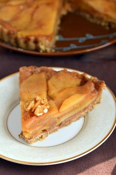 No-bake apple tart #vegan #gluten-free #thanksgiving dessert