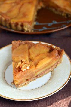 No-bake apple tart #vegan #gluten-free #thanksgiving dessert