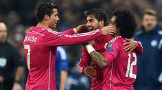 Real Madrid have a foot-and-a-half in the Champions League quarterfinals following their 2-0 first leg round of 16 victory over Schalke on Wednesday night at the Veltins Arena in Gelsenkirchen. Cristiano Ronaldo scored in the first half and Marcelo scored with a superb strike in the second half to give Los Blancos the win and a commanding lead in the tie against the Germans.