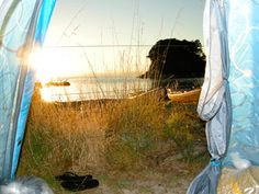 Sweet place to wake up in the morning. Mosquito bay in the Abel Tasman national park