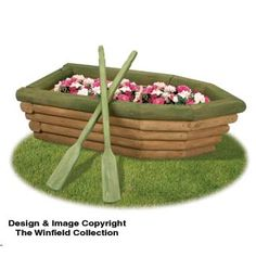 The Winfield Collection - Landscape Timber Rowboat Planter Plan Diy Wood Projects, Garden Projects, Wood Crafts, Woodworking Projects, Woodworking Joints, Woodworking Machinery, Woodworking Classes, Teds Woodworking, Gardens
