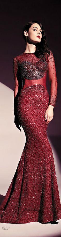 Marsala Wine / karen cox.   Dany Tabet  ●  Couture FW 2013-2014