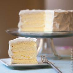 Light Lemon Chiffon Cake with Easy Costco Cheesecake Mousse