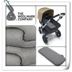 Bugaboo Woolmark Grey Melange bassinet mattress cover