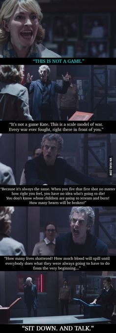 One of Doctor Who's best speeches (as in the show not the doctor, though this is one of his best)