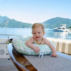 Docking your dockatot on the dock! Don't leave home without this baby travel must-have. DockATot portable baby bed is a baby travel essential. Boating With Baby, Traveling With Baby, Baby Travel, Family Travel, Portable Baby Bed, Baby Tummy Time, Travel Must Haves, Toddler Development, Infancy