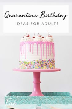 If you or a loved one have a birthday coming up and you're stuck in isolation, read this post for fun ideas on how to make it the best quarantine birthday! Birthday Party At Home, Happy Birthday Video, 40th Birthday Parties, 50th Birthday Party, Mom Birthday, Birthday Cards, Birthday Quotes, Birthday Gifts, Birthday Celebrations