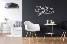 Hello Sunshine Wall Decal Typography Wall Sticker by LovelyPosters
