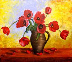 5 Sfaturi pentru a picta cele mai frumoase flori - Curs Pictura Bleu Pastel, Paintings, Paint, Painting Art, Painting, Painted Canvas, Drawings, Grimm, Illustrations