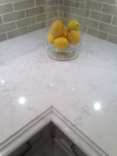 Cambria torquay counter top (quartz) a nice approximation to Carrara marble (and much more practical!) by jenna