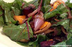 Vegematarian: roast beetroot and pumpkin salad