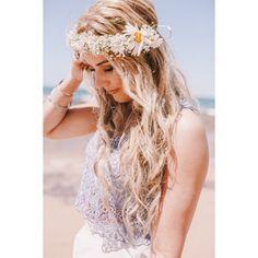 Beachy hair.