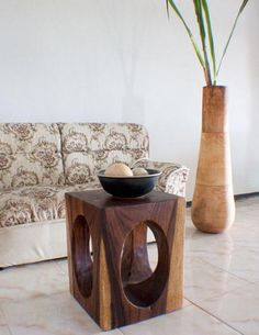 Ean Table natural wood windows style walnut
