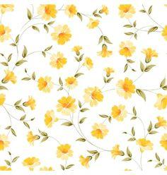 Elegant flowers fabric vector by Kotkoa on VectorStock®