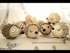 Patrón libre de ganchillo erizo | Crochet puntada de la bruja