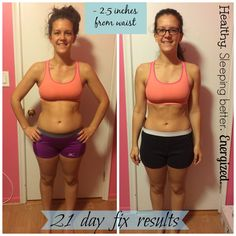 21 day fix, before and after, transformation, beachbody