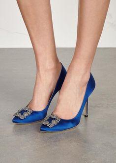 Hangisi 105 royal blue satin pumps - Pumps - All Shoes - Women