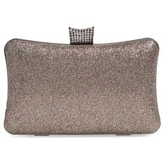 Natasha Couture Glitter Clutch ($68) ❤ liked on Polyvore featuring bags, handbags, clutches, multi, glitter clutches, glitter handbags, round purse, chain strap purse and chain handle handbags