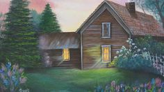 Dusk in Springtime.  Original art by Dorothy Dent.  I enjoy looking at this painting - it reminds me of where I grew up and all the evenings spent with my family.  I enjoyed painting this one.