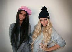 black hair, blonde hair