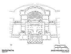 Floor Plan. Swiss Parliament Building, Bern, Switzerland. (Electro-acoustic Design by WSDG)
