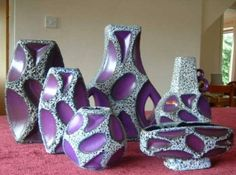 Roth Keramik vases in purple!