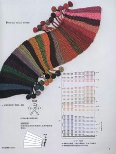 nice scarf made out of scrap yarn!