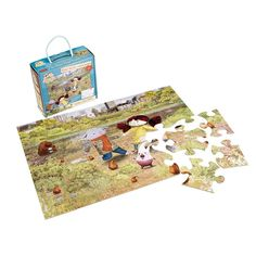 Giant 24 piece floor puzzle featuring Abney & Teal and friends. You can also flip over the puzzle and colour in the scene on the reverse! Puzzle size when m